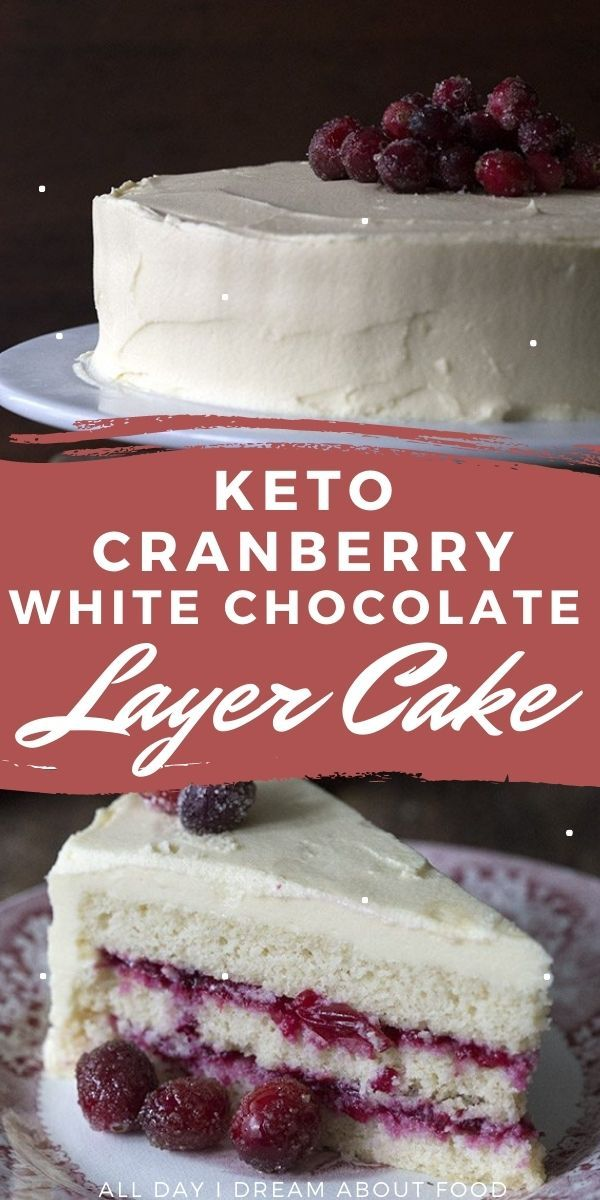 Keto White Chocolate Cranberry Cake