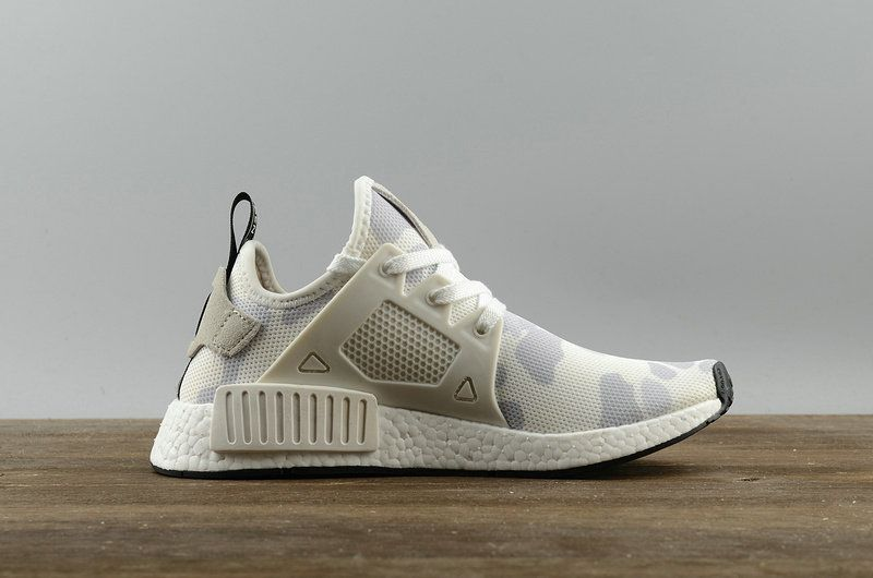 Real Adidas NMD XR1 PK Camo Pack White blanc BA7233 Youth