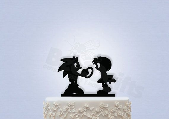 Sonic and Amy Rose Cake Topper by Bee3DGifts on Etsy
