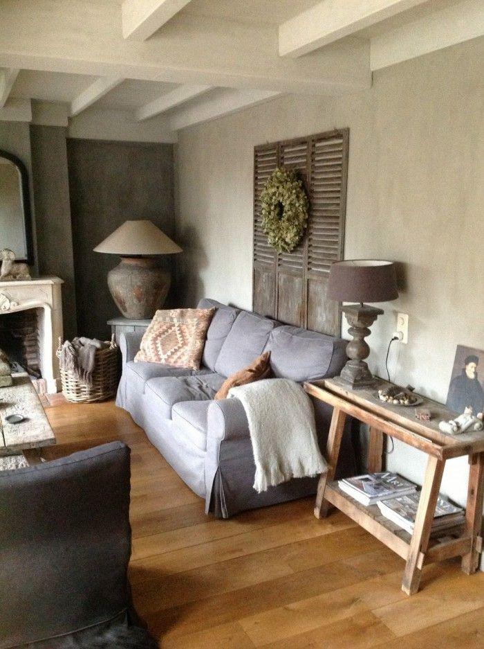 woonkamer landelijke stijl beetje riommelig maar wel warm en stoer ...