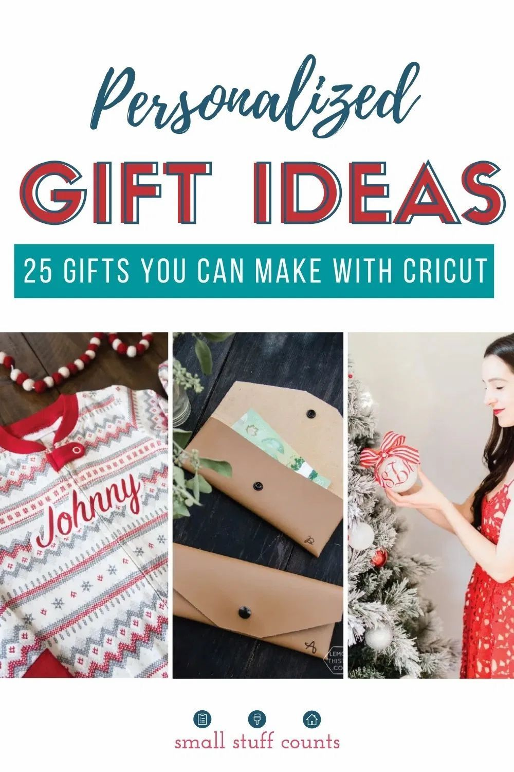 Creating personalized gifts for friends and family is hands-down one of the sweetest things you and your kids can do this Christmas. Here are 25 ideas to help you get started! #diygiftideas #christmasgiftideas #cricutholidaygifts