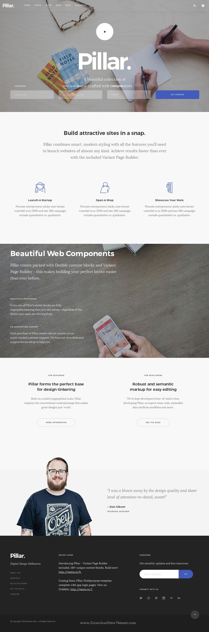 Pillar Multipurpose HTML + Variant Page Builder | Template, Web ...