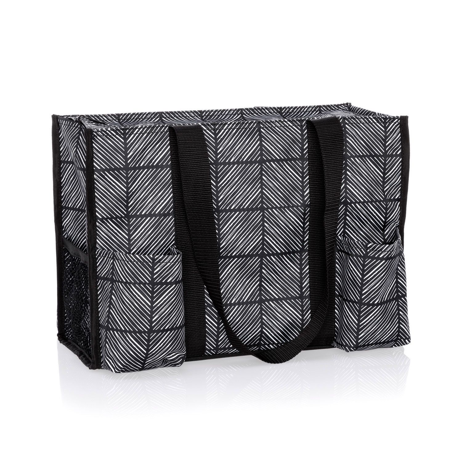 Chevron Squares Zip Top Organizing Utility Tote Thirty One Gifts