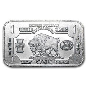 1 Oz Silver Bar Buffalo 1 Oz Silver Bars Apmex Silver Bars Silver Bullion Coins Silver Bullion