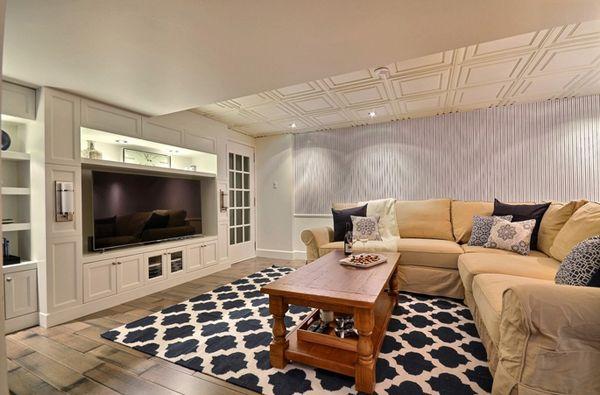 20 Contemporary Windowless Living Rooms Home Design Lover Windowless Living Room Basement Design Basement Design Ideas