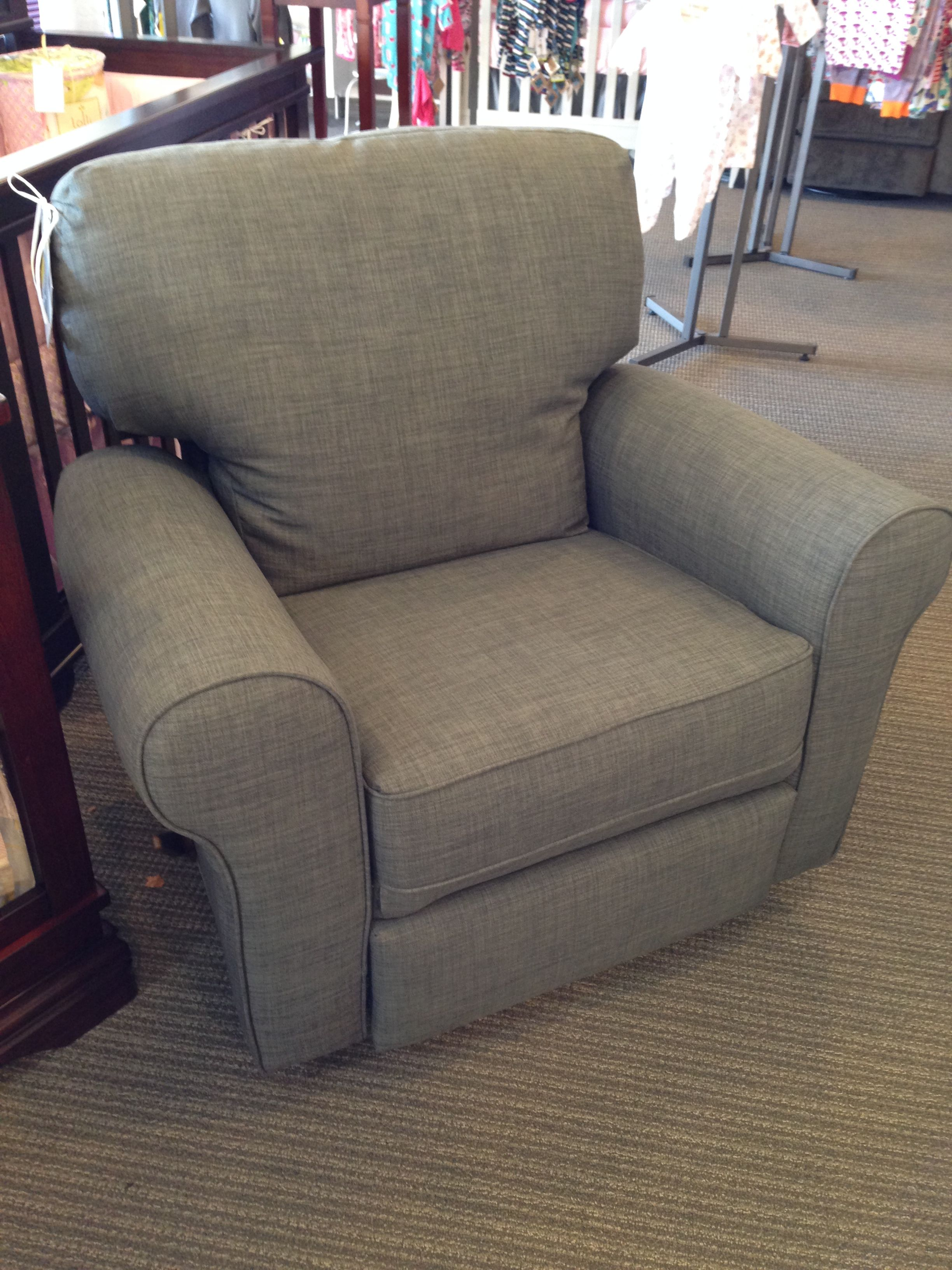 Best Chairs Irvington Swivel Recliner In Rock Stock