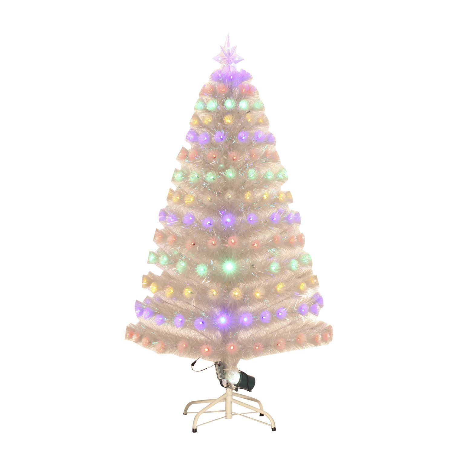 U artificial holiday fiber optic light up christmas tree clear