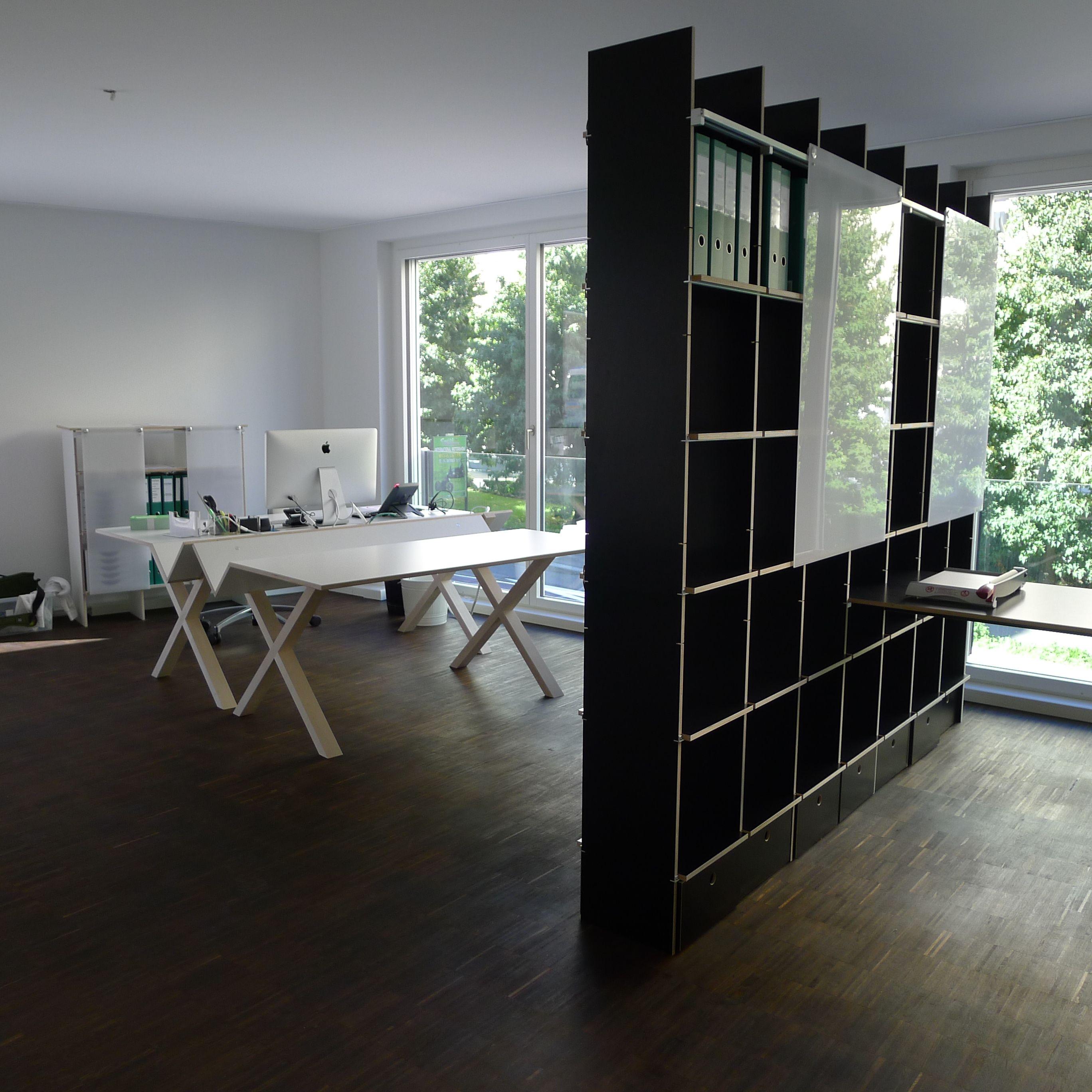 kant tisch und fnp regal von moormann moormann. Black Bedroom Furniture Sets. Home Design Ideas