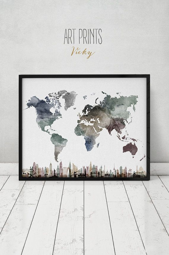antique pin on finish map home com world in display framed outlookmaps wall decor