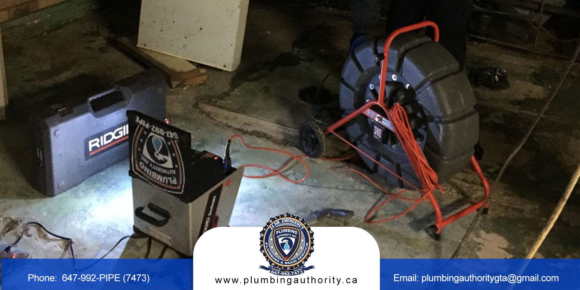 Drain snaking cleaning pressurejetting plumbing