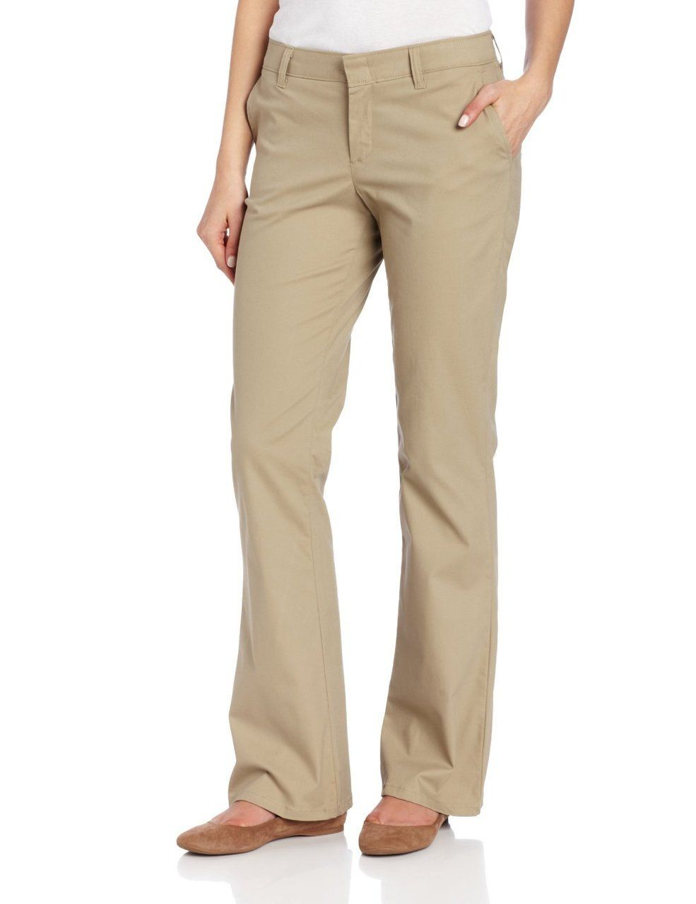 Dickies FP121 Pantalones de Mujer tipo Dockers Stretch 97% ...