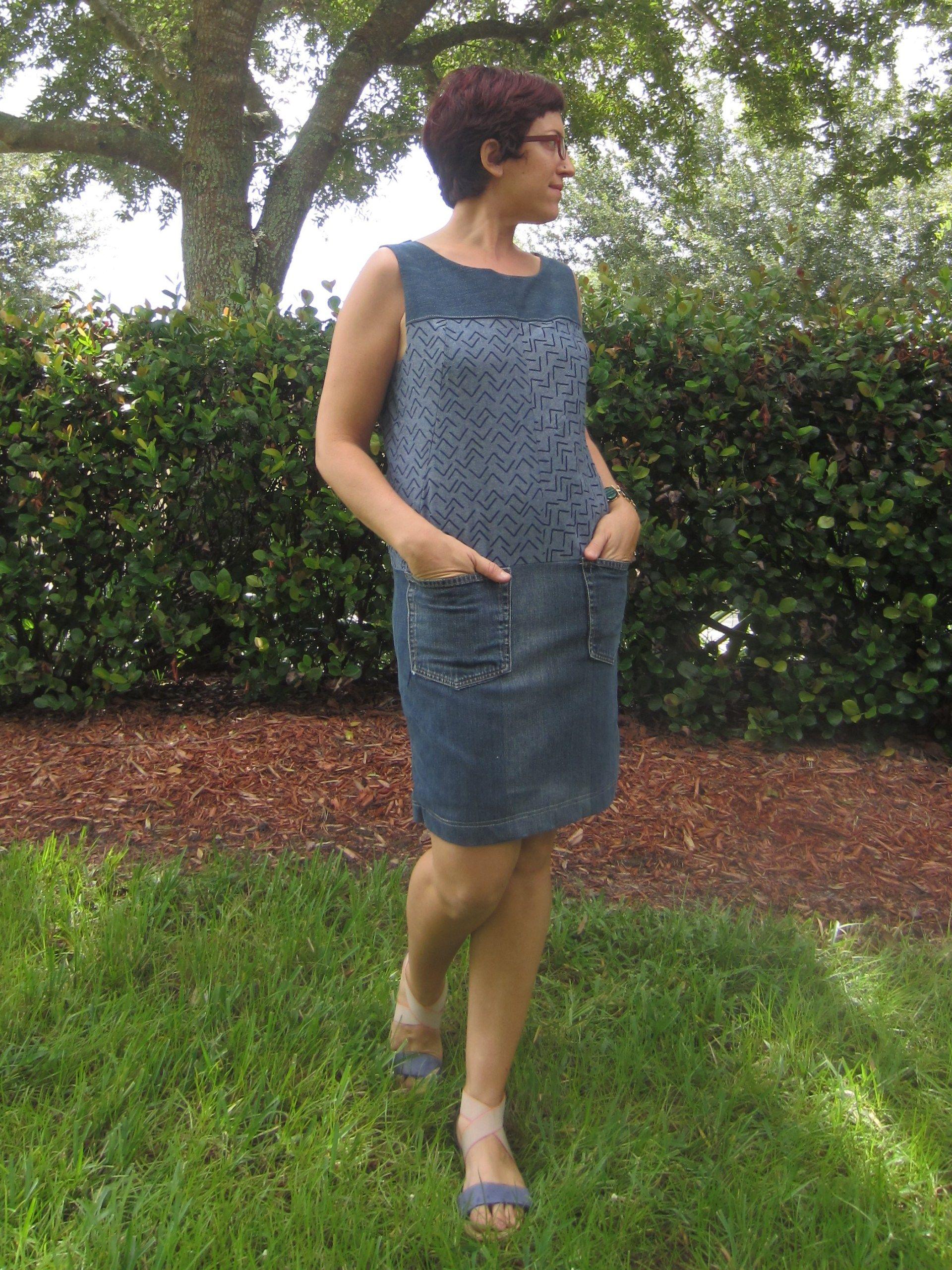 Anne Klein Vogue Designer Patterns V1382 Shift Dress, Refashion, Sew ...