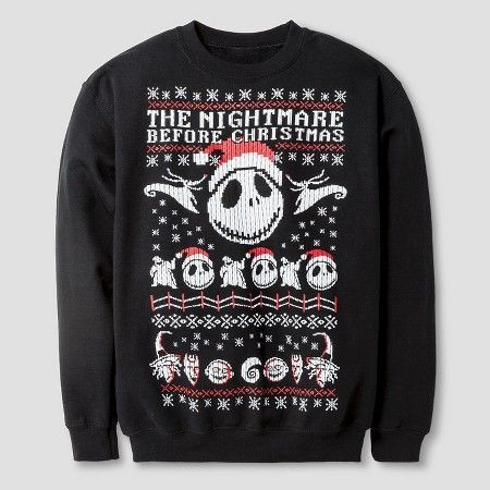 Disney® Boys' The Nightmare Before Christmas Sweatshirt - Black ...