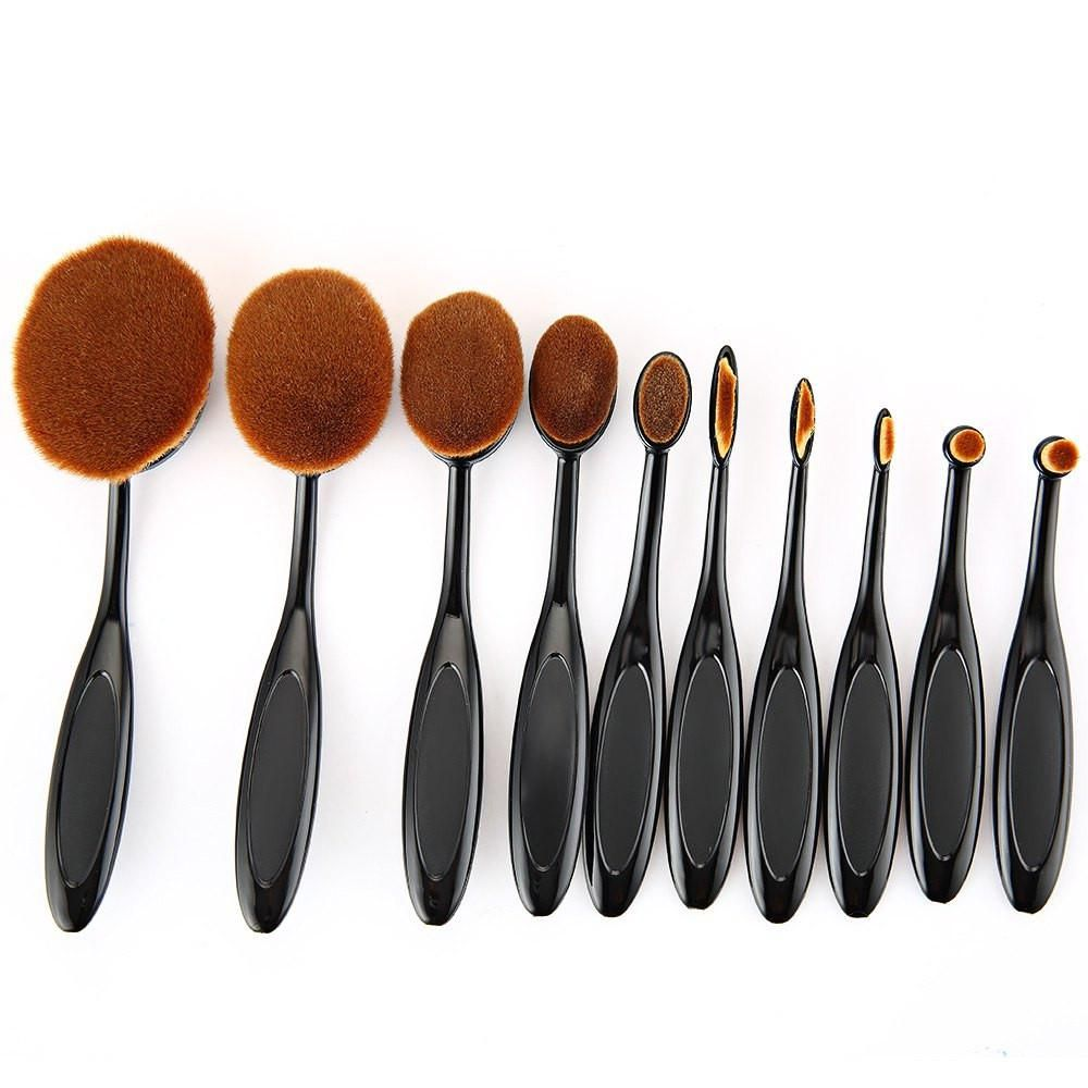 10pcs Beauty Cream Cosmetic Foundation Mixing Tools  Puff  Batch Power Makeup Toothbrush1