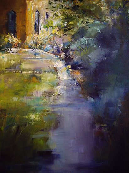"""Blowing Rock Church"" by Cinthia Griffin Oil ~ 24"" x 18"""
