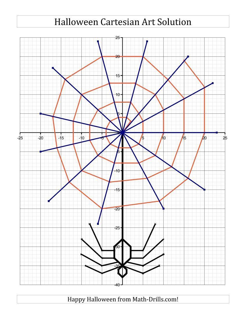 New For Halloween 2013 Cartesian Art Halloween Spider Halloween Math Worksheets Halloween Graphing Halloween Math [ 1100 x 850 Pixel ]