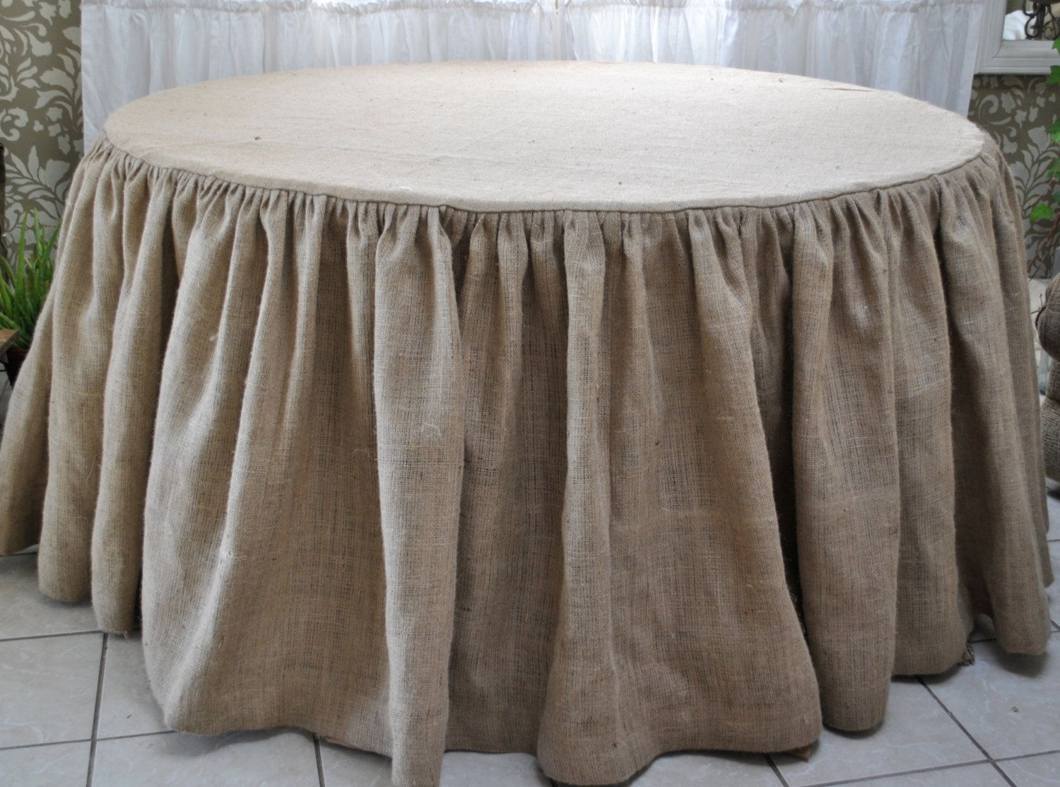Burlap Round Tablecloth By Paulaanderika On Etsy With Amazing Best Images