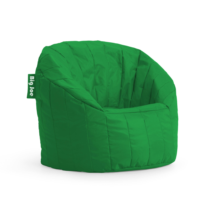 fort Research BeanSack Big Joe Green Lumin Bean Bag Chair