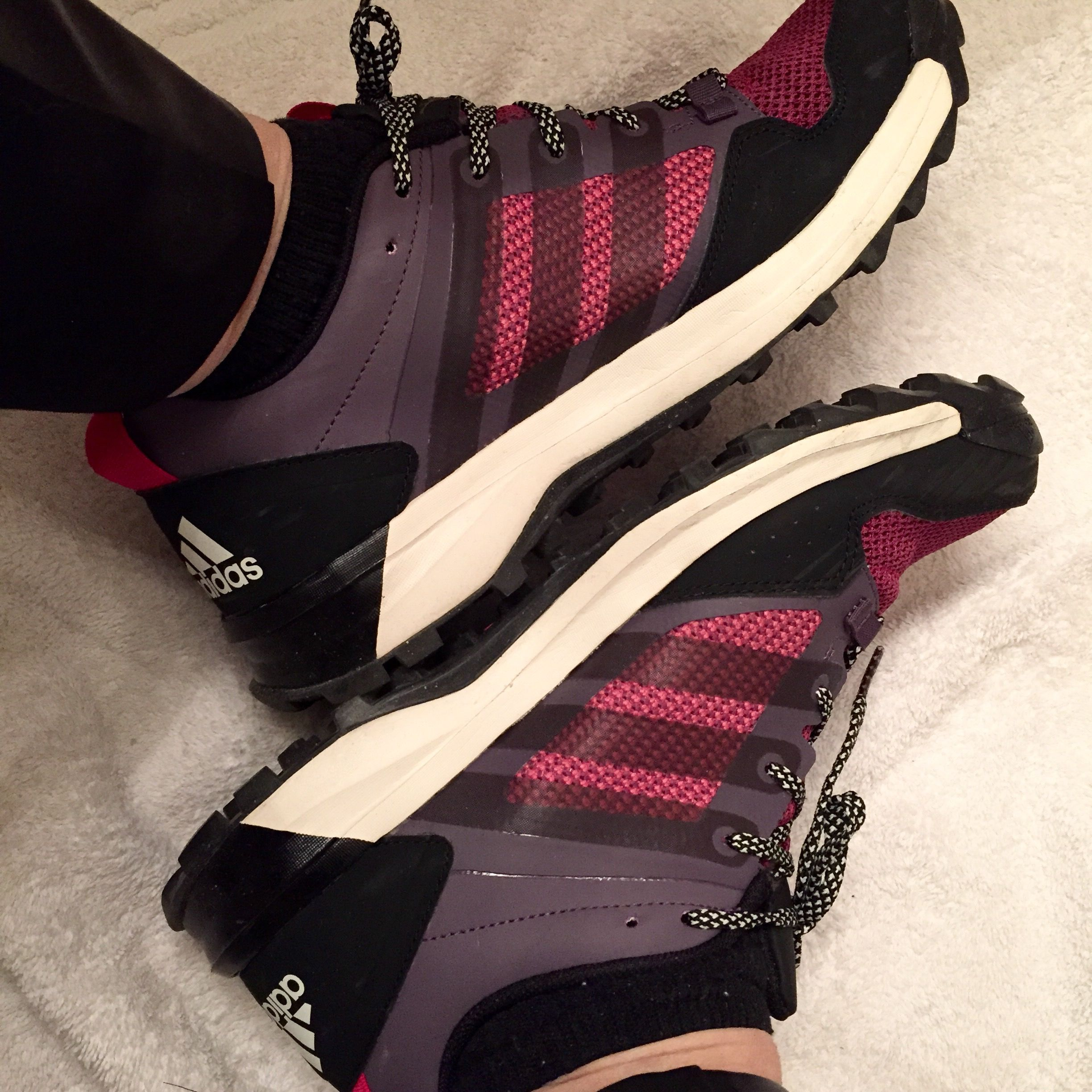 My new Christmas shoes from Costco $29.99 Purple magenta Adidas