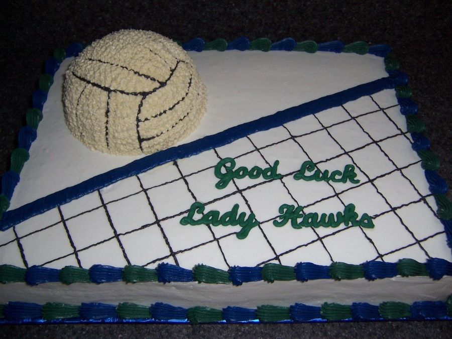 Volleyball is made using only half of a ball cake pan work cakes pinterest - Volleyball geschenke ...