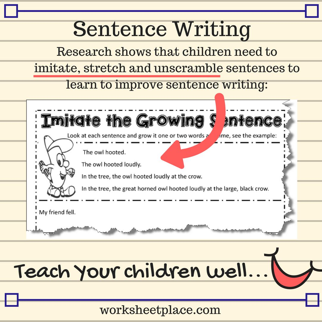 Free Sentence Writing Resources And Worksheets For Grad 2