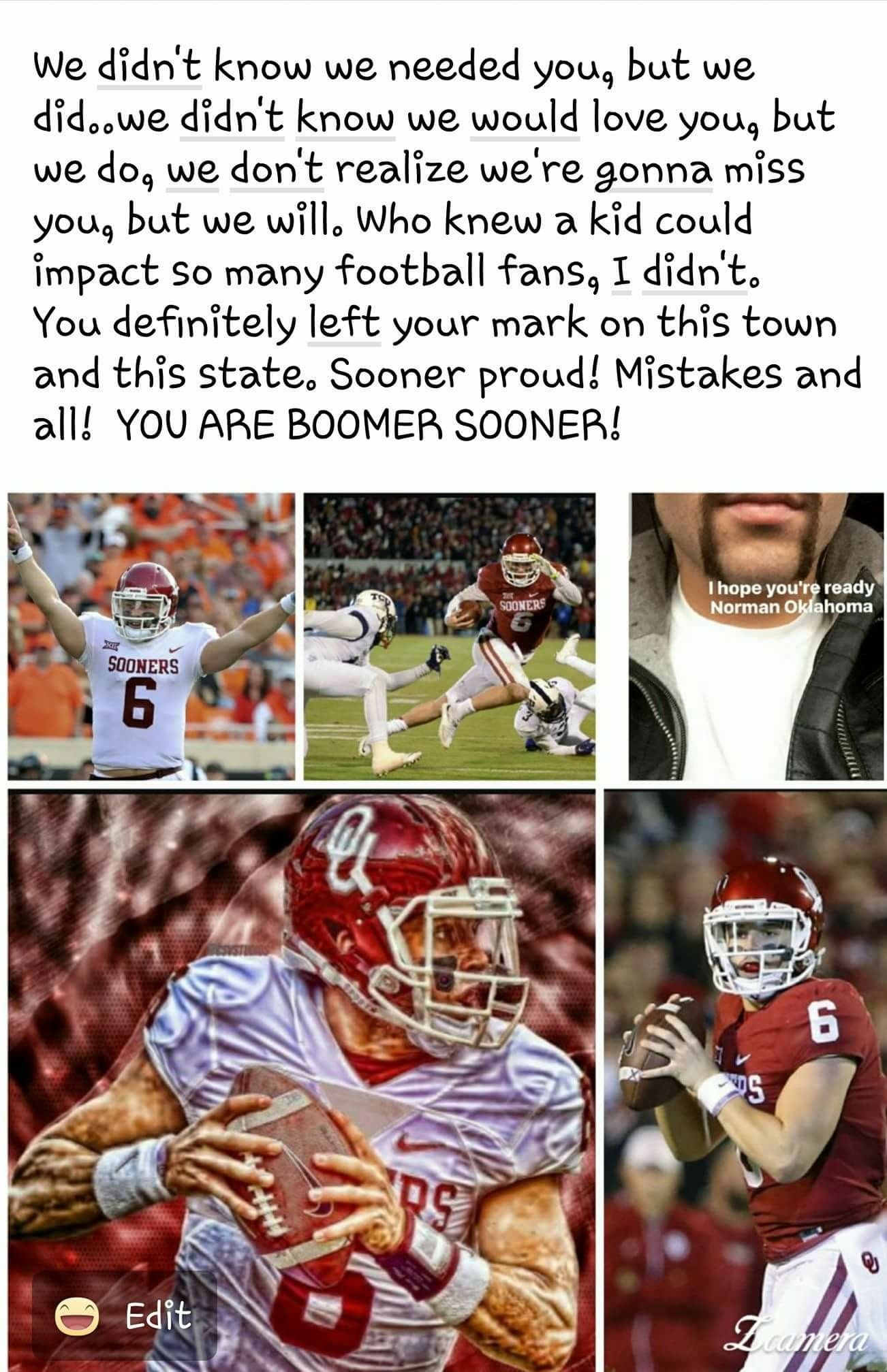 Pin By Cheri Parsons On Ou Football Sooners Oklahoma Sooners Baker Mayfield
