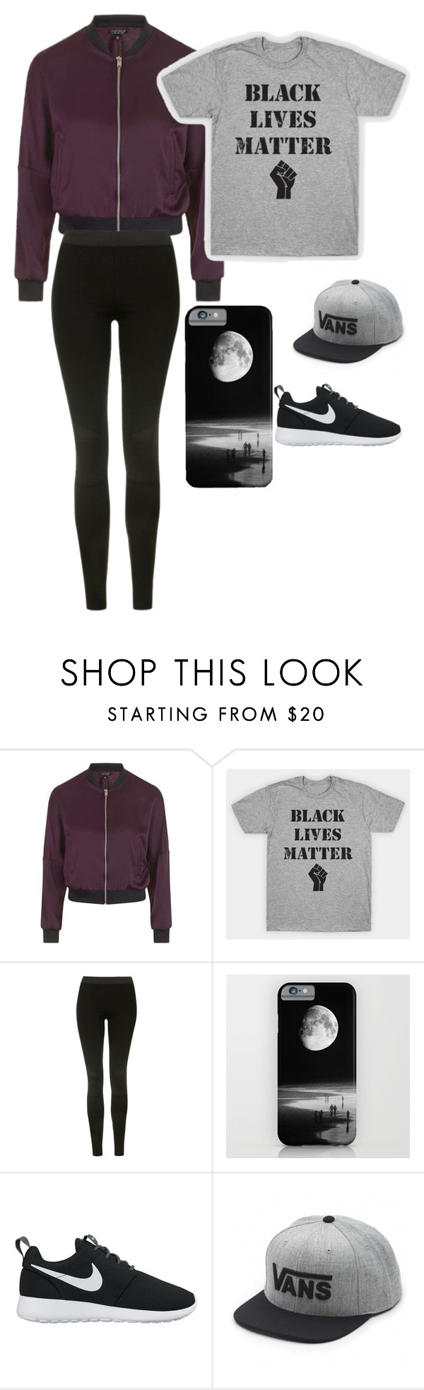 """""""Untitled #14"""" by jessica886-1 ❤ liked on Polyvore featuring Topshop, NIKE and Vans"""