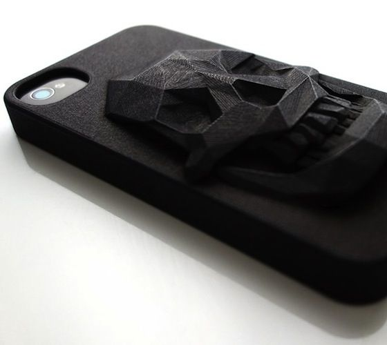 3D Printed Skull iPhone Case but I also want an iPhone 4-4s or 5 just for the case.