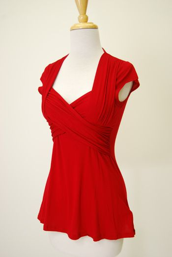 Double Crossed blouse by Red Dress Shoppe | To Top It All Off ...