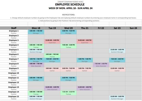 If You Manage Employees Chances Are You Need An Employee Schedule