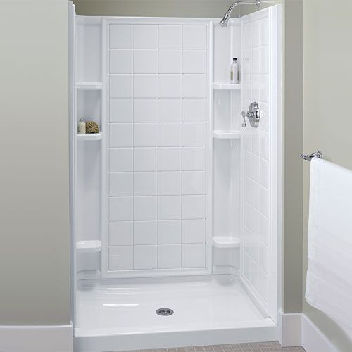 Sterling S721201000 Ensemble Tile Standard Enclosure Shower Enclosure    White At Ferguson.com