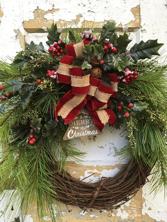 Christmas Wreath For Front Door Holiday Wreath Rustic Things I