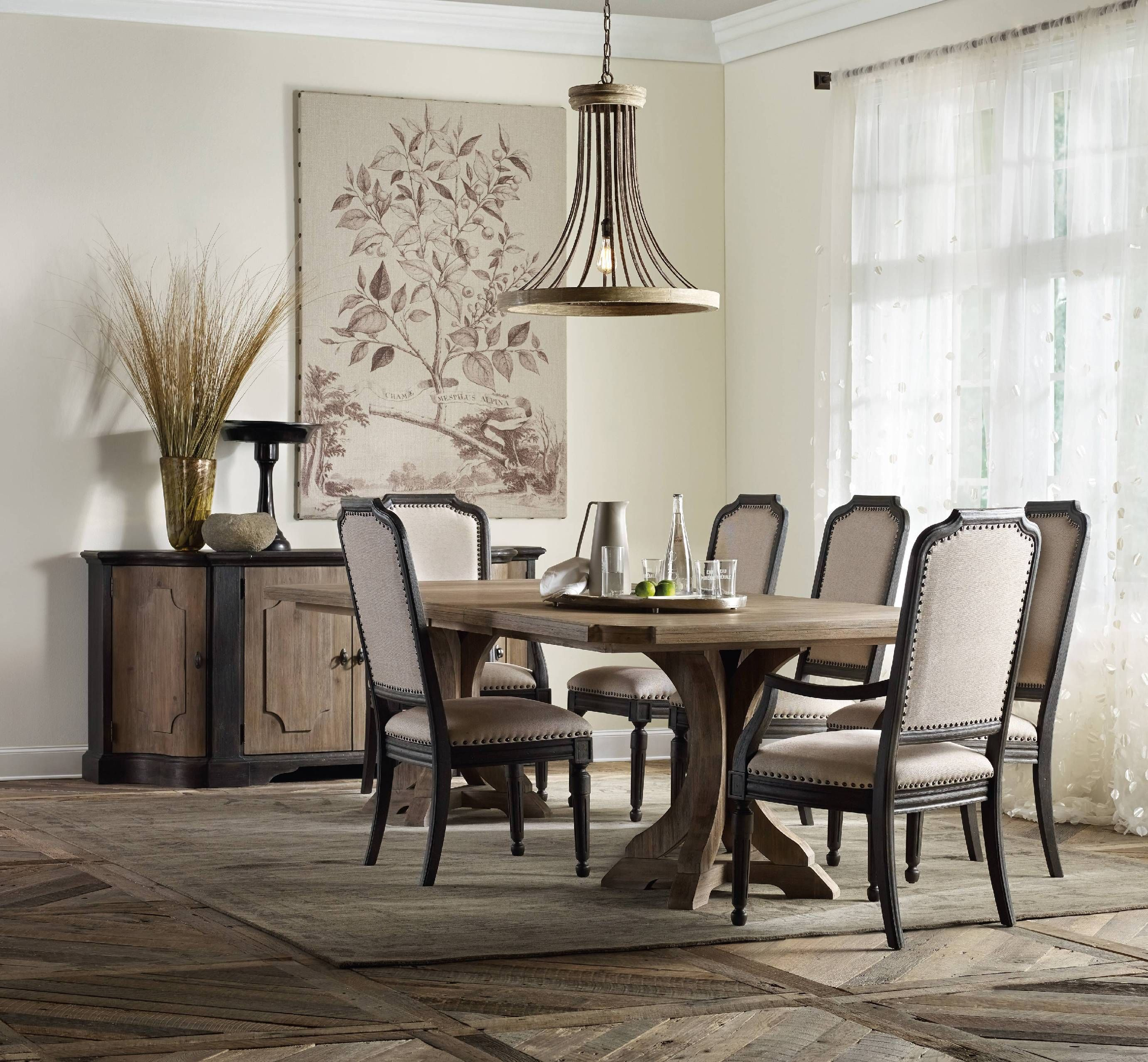 Hooker Furniture Dining Room Corsica Rectangle Pedestal Table W 2 20in Leaves 5180