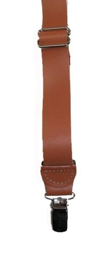 Smooth Leather Clip End Suspenders | eBay