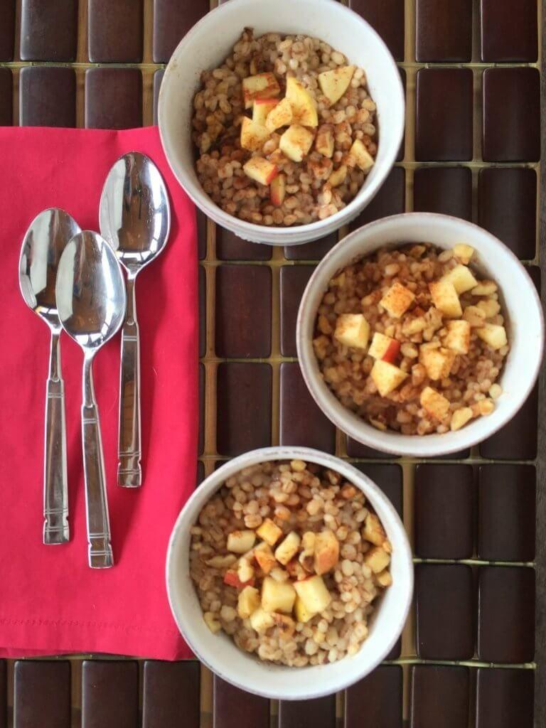 Cinnamon Apple Breakfast Barley Apple breakfast, Healthy