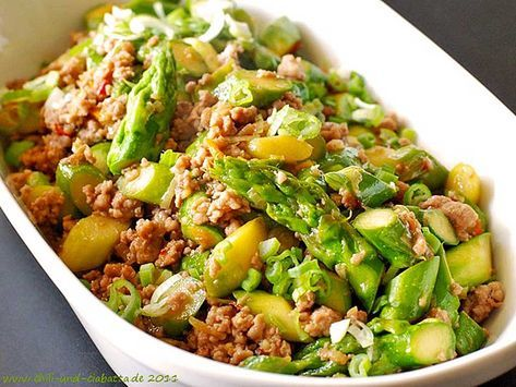 Photo of Spring pan – mince and green asparagus as a barbecue treat by marcus_hosch | Chef