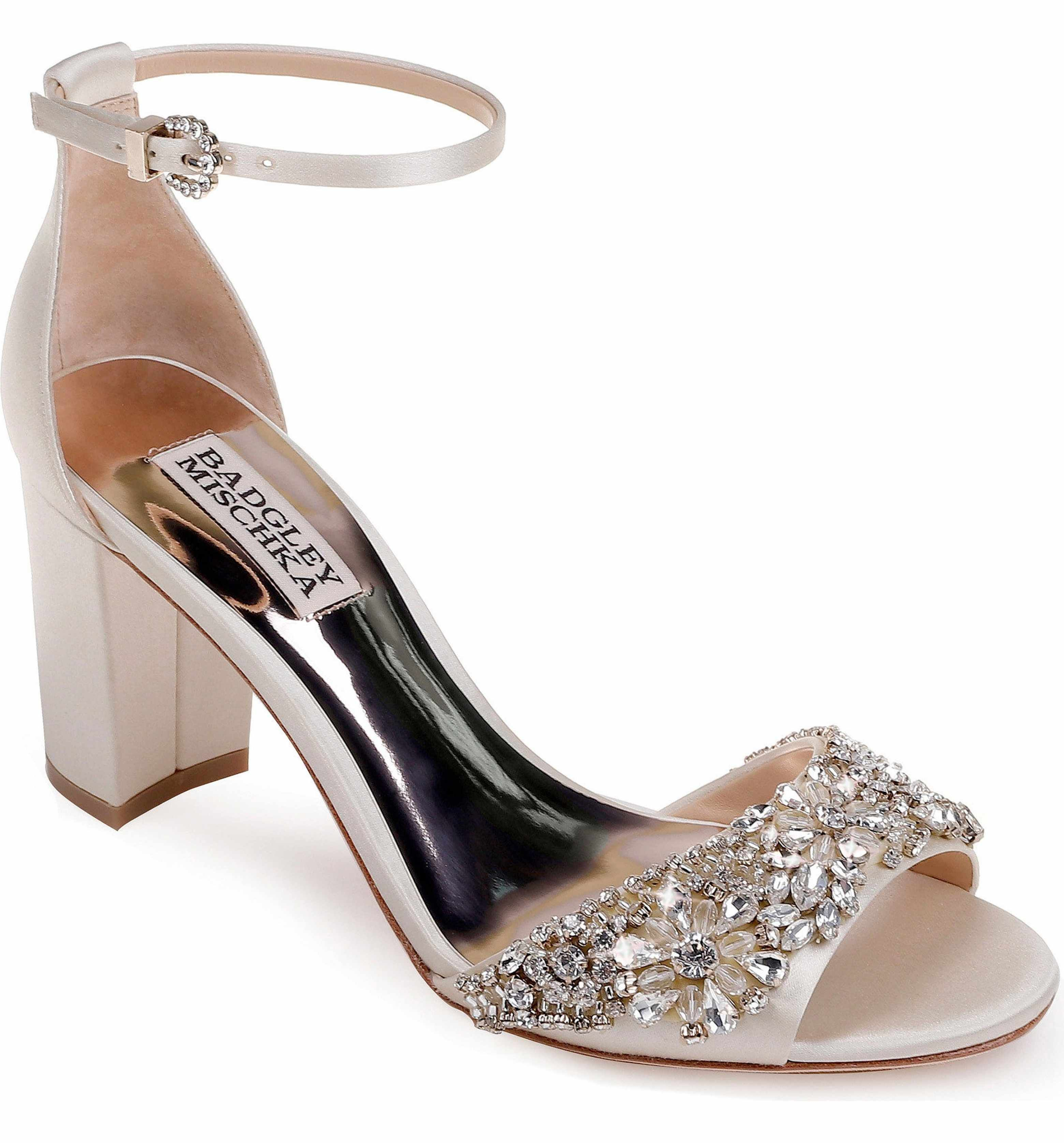 Main Image - Badgley Mischka Hines Embellished Block Heel Sandal (Women)