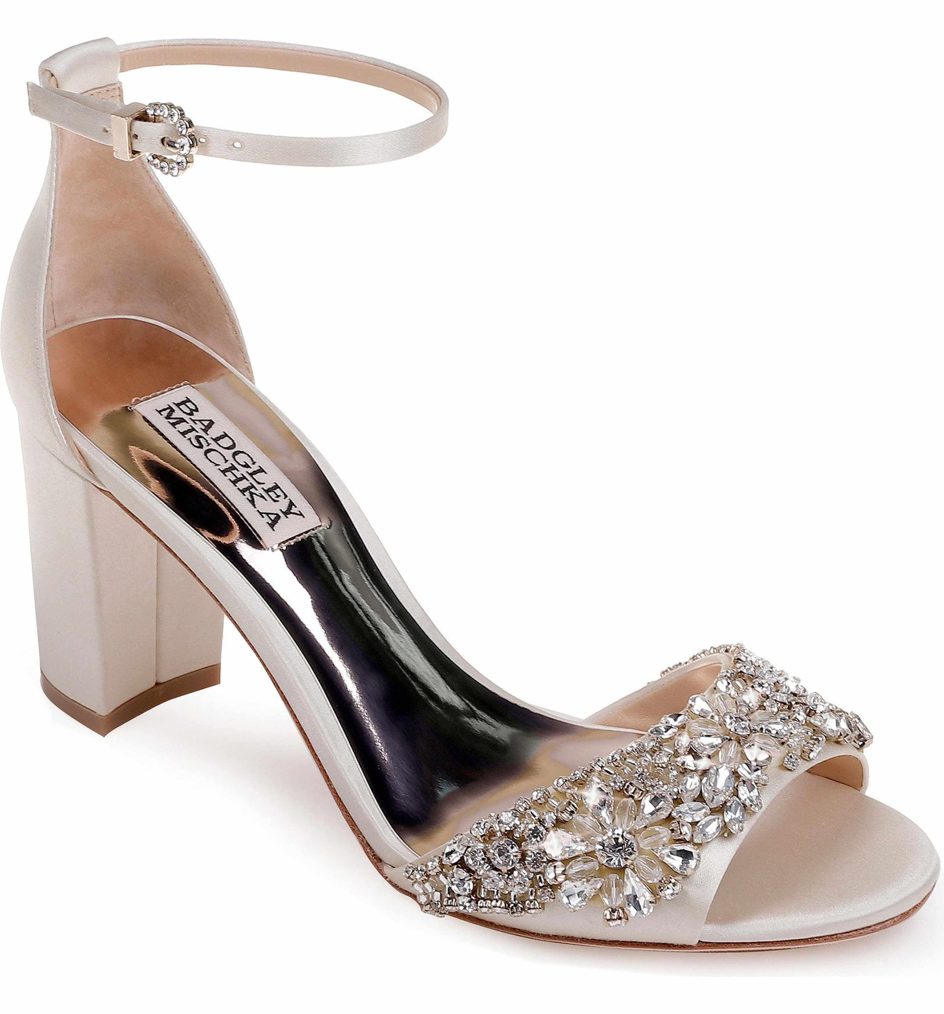8e7a7d1dd00b Main Image - Badgley Mischka Hines Embellished Block Heel Sandal (Women)