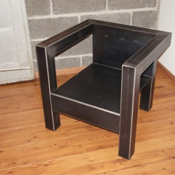 Fauteuil Metal Fabrication Francaise Fauteuil Metal Meuble Metal Chaise Metal