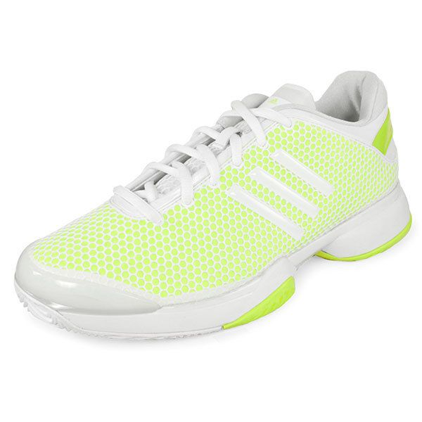 8908d19563bec adidas Women`s Stella McCartney Barricade Tennis Shoes Yellow and White