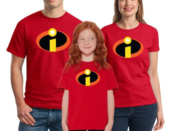 9adcc2bed The Incredibles T-shirts Men's Women's Youth Incredibles Logo, Incredibles  Costume, Family Halloween