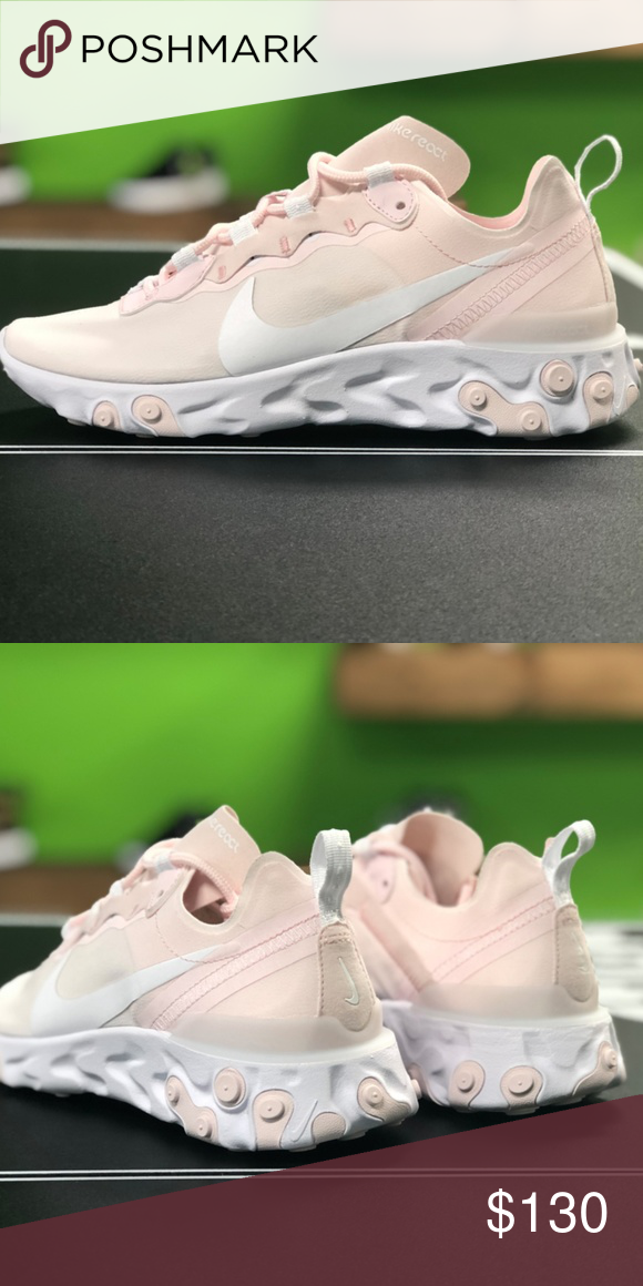 31c95ddd8d31 Nike React Element 55 - Pale Pink BRAND NEW!! Comes with original box. 100%  Authentic. No Trades!!! Nike Shoes