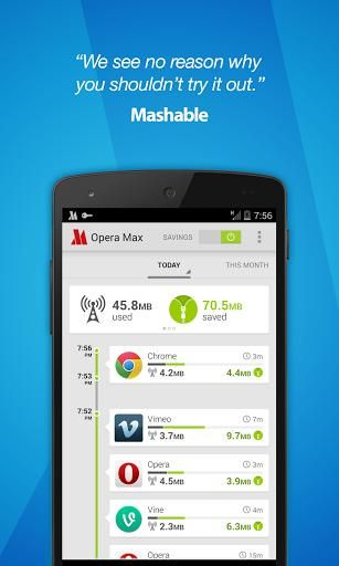 Opera Max Beta Data Manager Screenshot 1 With Images Mobile Data