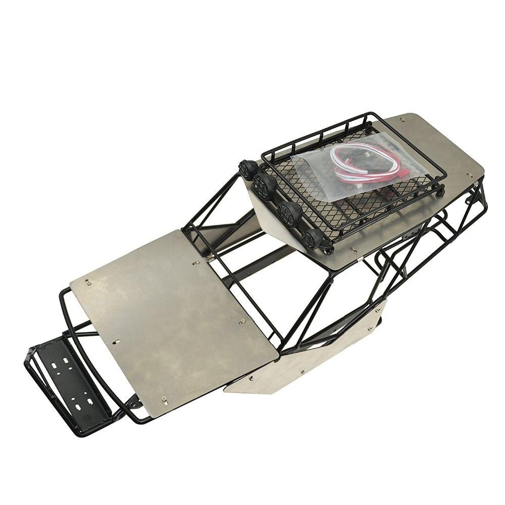 RCAIDONG 1/10 Rc Crawler Metal Roll Cage Tube Frame Chassis With ...