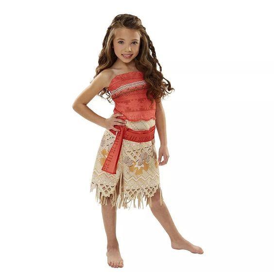 a6f2afb0e7 Disfraz Talla 4 A 6 Años Disney Moana Niña Entrega Inmediata -   870.00 en  Mercado Libre
