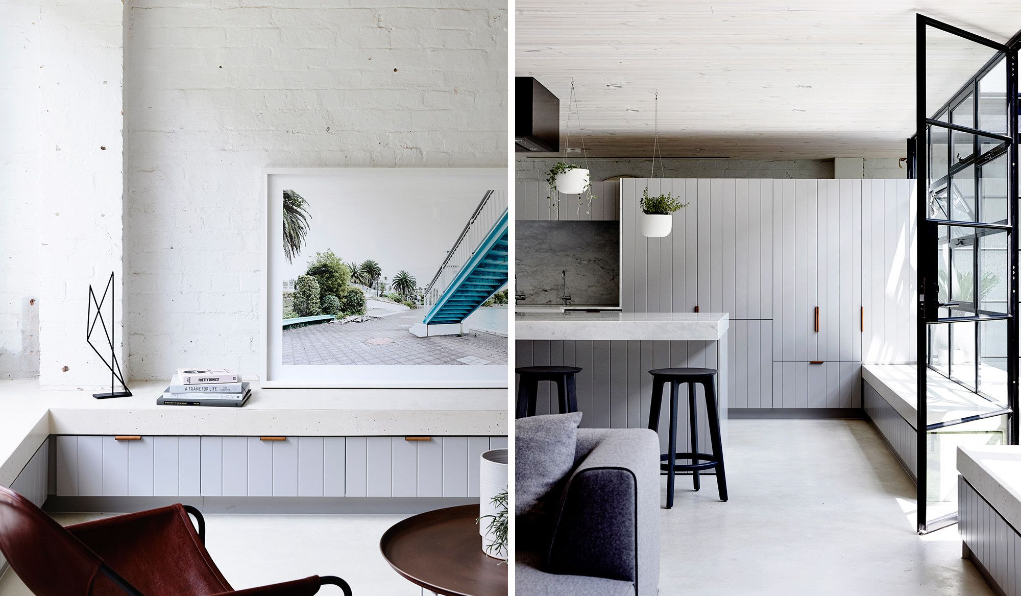 KITCHEN / LIVING: Kitchen / Living Storage Incorporating Entertainment  Unit. Joinery Detail Inspiration.