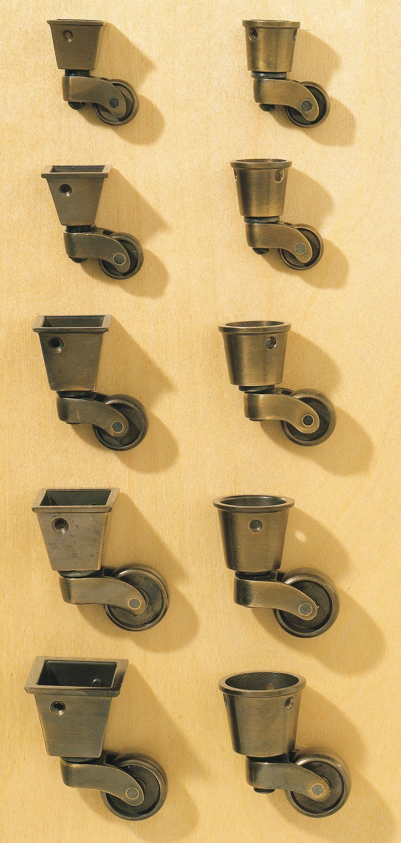Cup Casters For Tapered Legs Casters Are Available In Antique