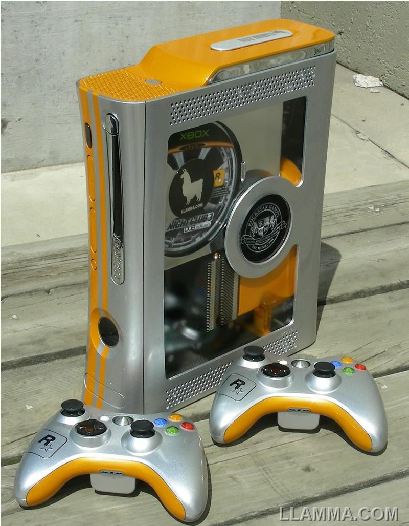 Images Of Xbox Game  Llamma Edition Custom Xbox 360 Mod Console