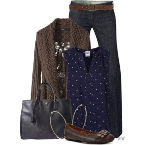 Casual Brown & Navy