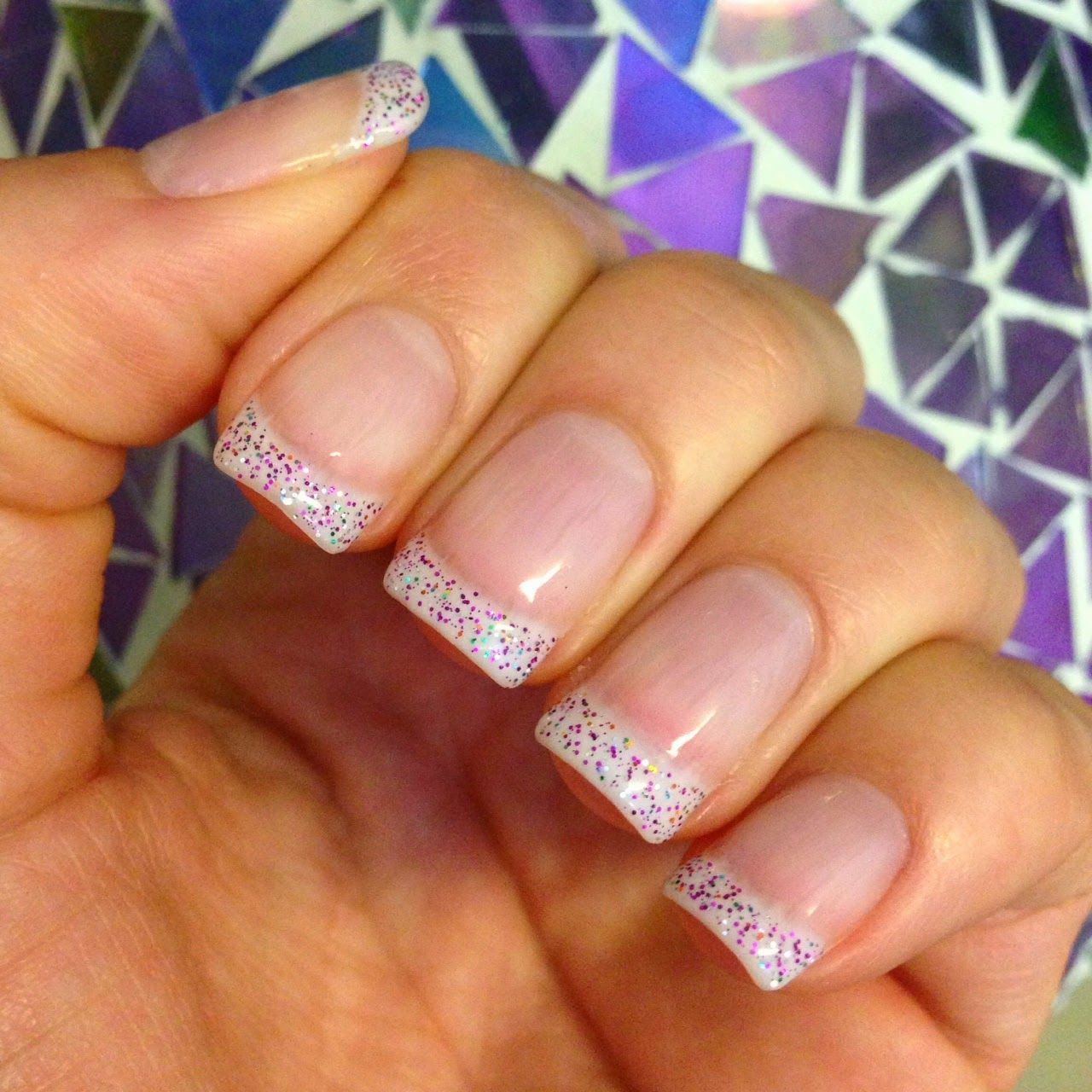 Glitter French Tip Nails Sparkle Tips OPI Gel